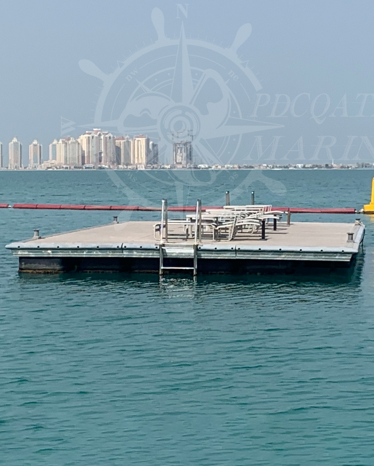 Hilton Doha Hotel – Swimming Floating Platform