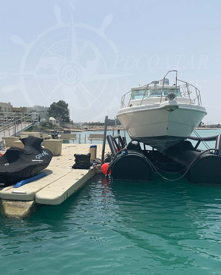 Private Client J. S. Al Jaber – Floating Dock & Boat Lift