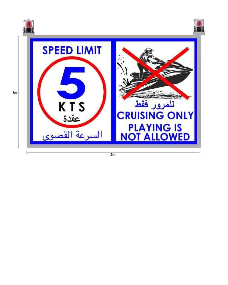 Ministry of Municipality & Environment- Legtaifiya – Speed Signs